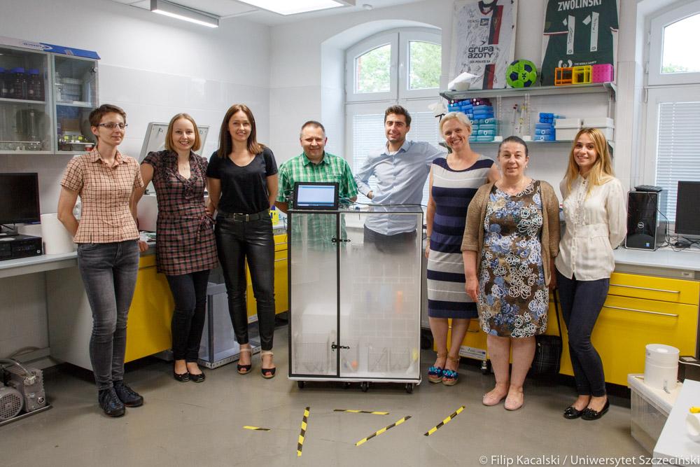 Zespół opracowujący mobilną stację sterylizacji, CBSFC US